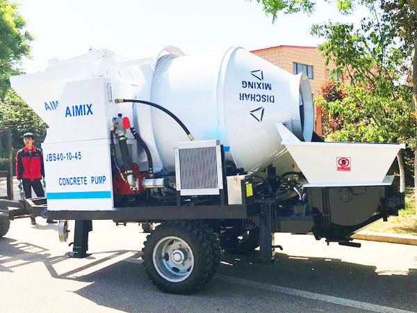small type concrete mixer pump